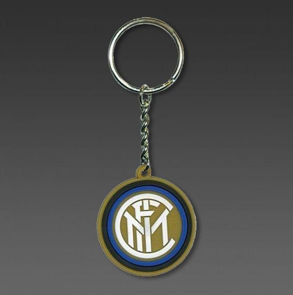 FC Internazionale gumikulcstartó, kör alakú