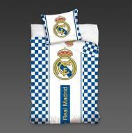 Real Madrid ágynemű, fehér-kék, kockás