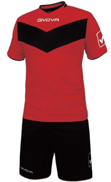 Givova Vittoria mez+nadrág, piros-fekete