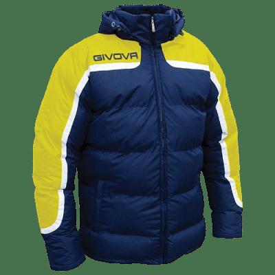 Givova Antartide kabát, sötétkék-citromsárga