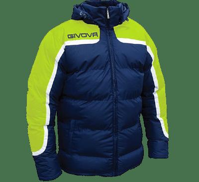 Givova Antartide kabát, sötétkék-fluosárga