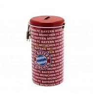 FC Bayern München persely, henger alakú, fém, lakattal