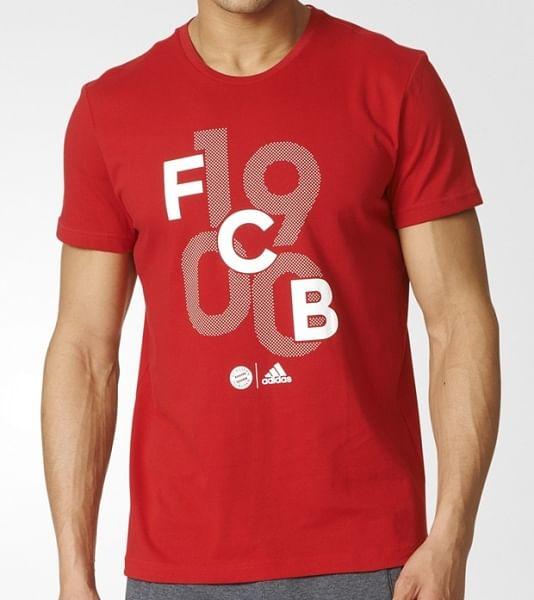 FC Bayern München 2016/17 pamutpóló, piros, új