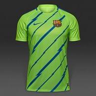 FC Barcelona 2016/17 tréning mez, fluozöld-kék