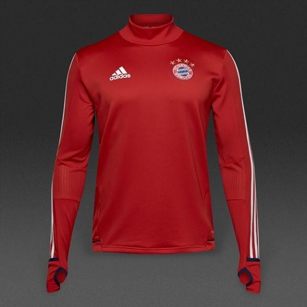 FC Bayern München 2017/18 edzőmelegítő felső, piros