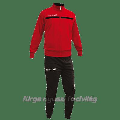 Givova One Full Zip melegítő, piros-fekete