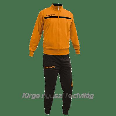 Givova One Full Zip melegítő, narancssárga-fekete