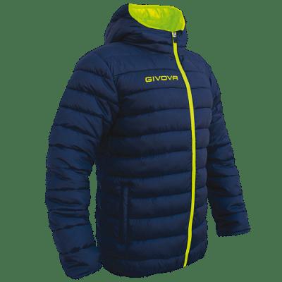 Givova Olanda átmeneti kabát, sötétkék-fluosárga