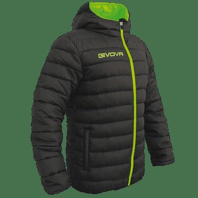 Givova Olanda átmeneti kabát, fekete-fluozöld