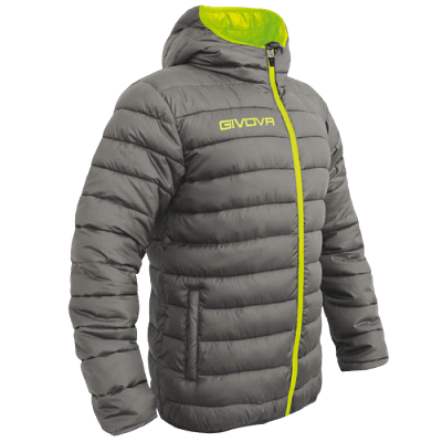 Givova Olanda átmeneti kabát, szürke-fluosárga