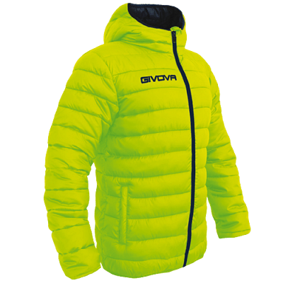 Givova Olanda átmeneti kabát, fluosárga-fekete