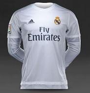 Adidas Real Madrid 2015/16 hazai mez, hosszúujjú