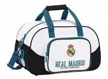 Real Madrid sporttáska, kicsi, fehér-fekete-világoskék