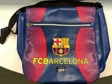FC Barcelona oldaltáska, nagy, sötétkék-bordó