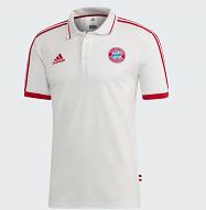 Adidas FC Bayern München 2018/19 Galléros póló, Fehér