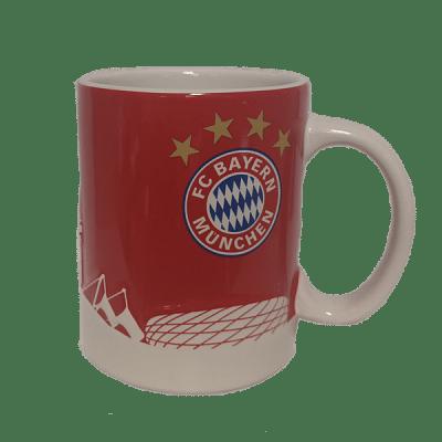FC Bayern München bögre, piros, Skyline 3D