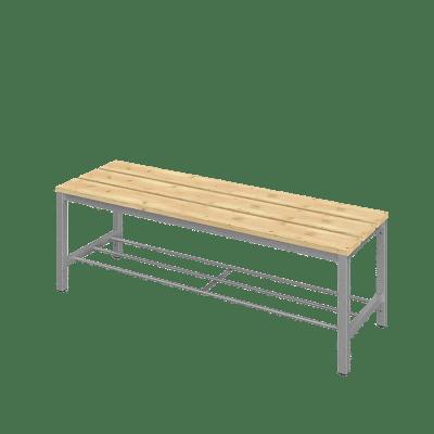 Öltözőpad, 120 cm széles ülőfelülettel