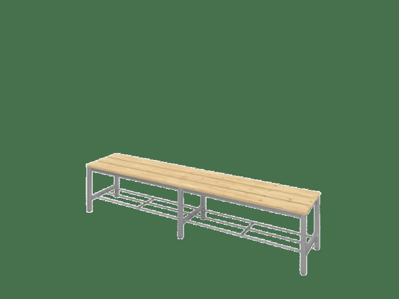 Öltözőpad 190 cm széles ülőfelülettel