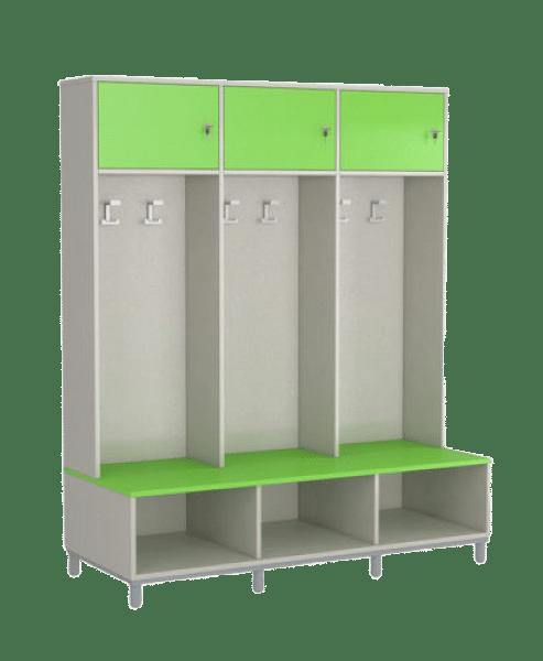 Öltözőbútor - 3 személyes, zárható ajtóval