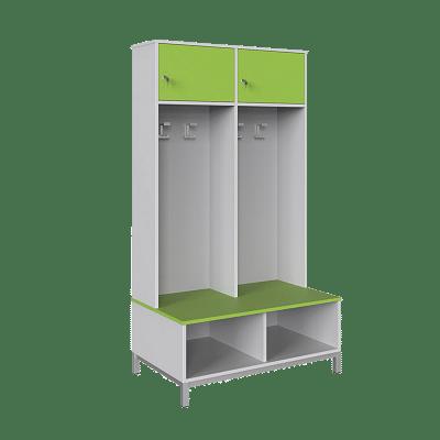 Öltözőbútor - 2 személyes, zárható ajtóval