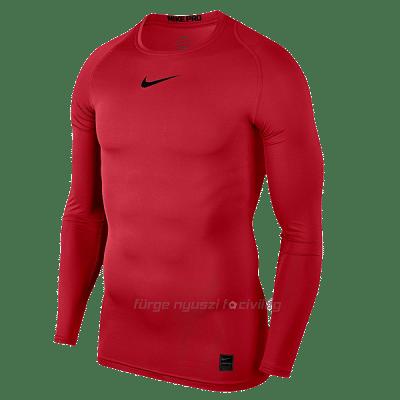 Nike Pro Compression hosszú ujjú férfi aláöltözet felső, piros