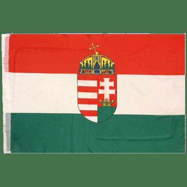 Magyarország zászló, címeres, 90x160 cm