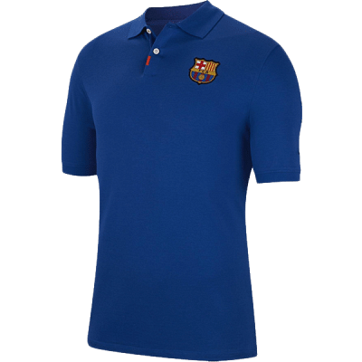 Nike FC Barcelona galléros póló, 2019/20, kék