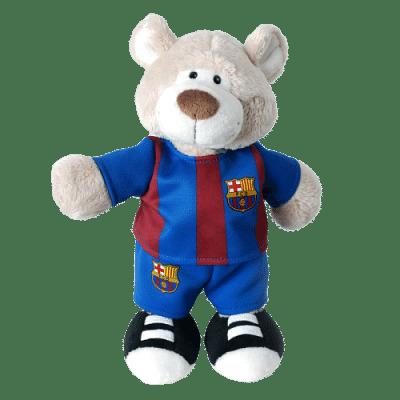 FC Barcelona zenélő plüssmackó, 20 cm