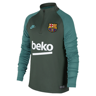 Nike FC Barcelona Dri-FIT Strike Drill tréningfelső, 2019/20, gyerekméret