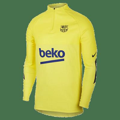 Nike FC Barcelona VaporKnit Drill edzőfelső, sárga