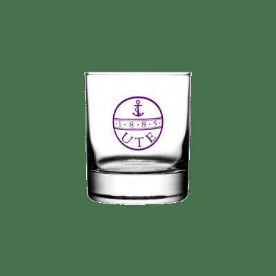 UTE whiskeys pohár, kerek
