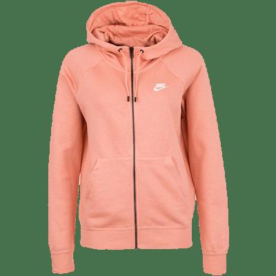 Nike Sportswear Essential Women Fleece kapucnis melegítőfelső, pink