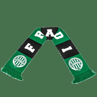 FTC kötött sál, zöld-fekete