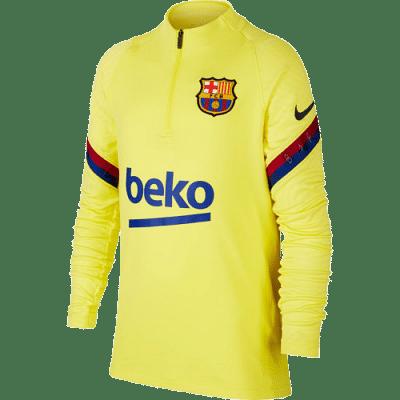 Nike FC Barcelona Strike Drill edzőfelső, gyerekméret 2019/20, sárga