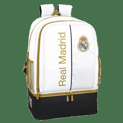 Real Madrid cipőtartós hátizsák, fehér-arany-fekete