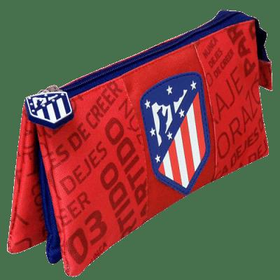 Atletico Madrid tolltartó, 3 rekeszes, lapos