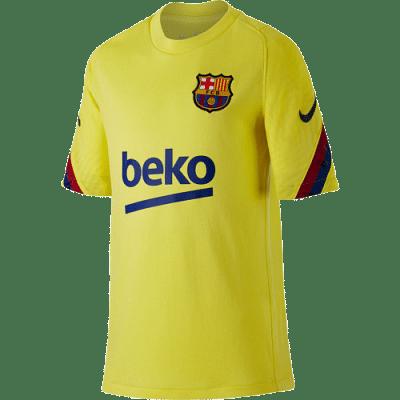 Nike FC Barcelona Strike Top Y. edzőmez, sárga, gyerekméret