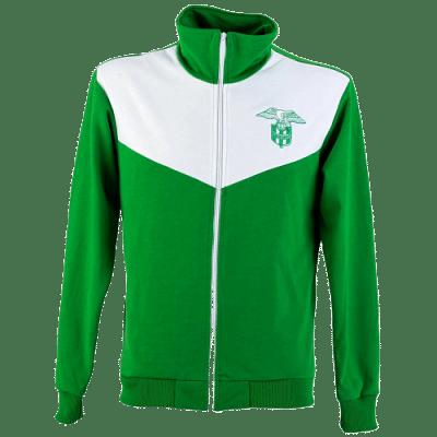 FTC Retro pulóver, zöld-fehér