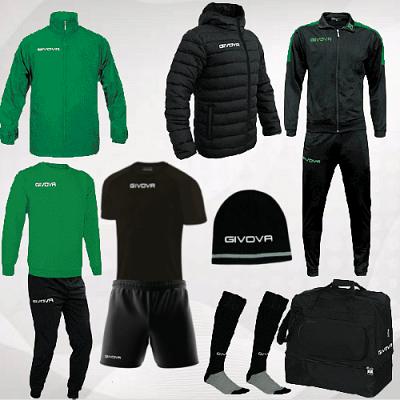 Givova Revolution box, fekete-zöld