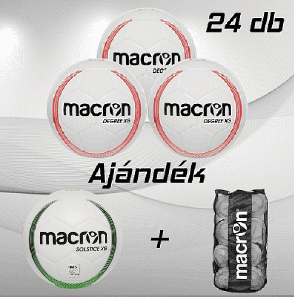 Macron Degree XG 24 db-os labdacsomag, piros