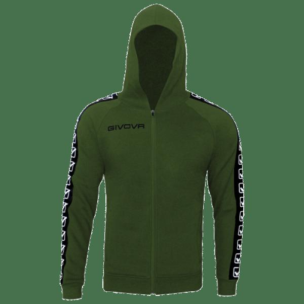 Givova Fleece Full Zip melegítő felső, zöld
