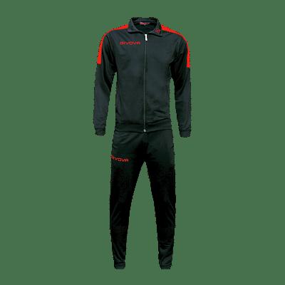 Givova Revolution Full Zip melegítő szett, fekete-piros