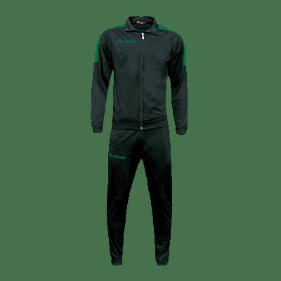 Givova Revolution Full Zip melegítő szett, fekete-zöld