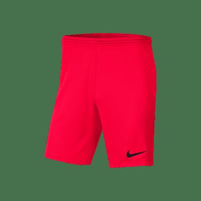 Nike Park III rövidnadrág, gyerekméret,, karmazsin