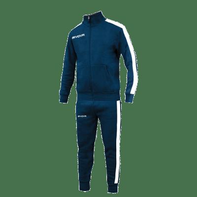 Givova Sweat Revolution Senior melegítő szett, kék-fehér