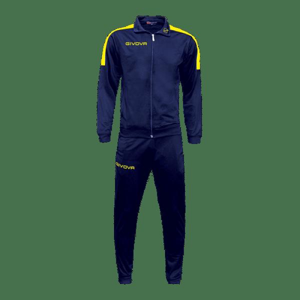 Givova Revolution Full Zip melegítő szett, kék-sárga