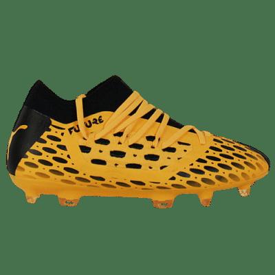 Puma Future 5.3 Netfit FG/AG stoplis focicipő, sárga-fekete, gyerekméret