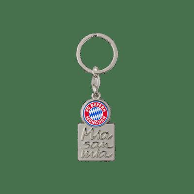 Bayern München Kulcstartó, címerrel és Mia san mia felirattal