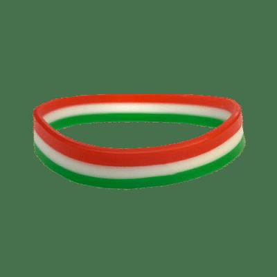 Magyarország karkötő, szilikon, trikolor