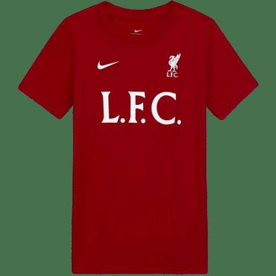 Nike Liverpool FC póló, L.F.C. feliratos,gyerekméret